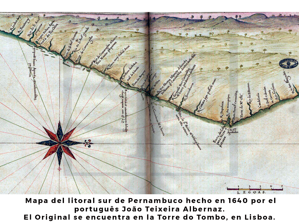Mapa del litoral de Pernambuco 1640
