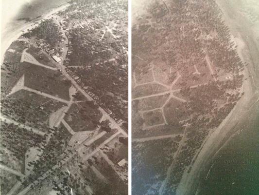 Foto aerea de Porto de Galinhas antigua