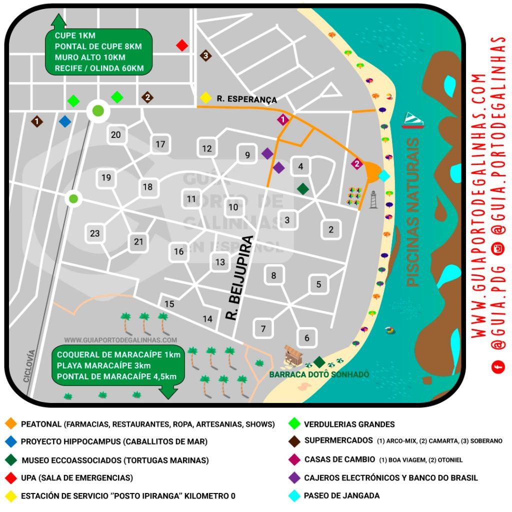 Mapa Porto de Galinhas