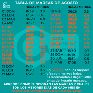 TABLA DE MAREAS AGOSTO PORTO DE GALINHAS